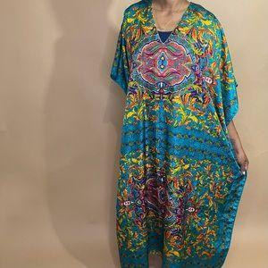 Bright Vintage Colorful Bohemian Mu mu OSFM